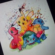 Some more #pokemon for my followers haha. The 1st gen starters ...