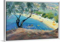 Achladies Bay, Skiathos, Greece, 1985 (oil on canvas)