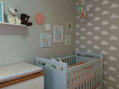 Resultado de imagem para cor quarto bebê nuvens