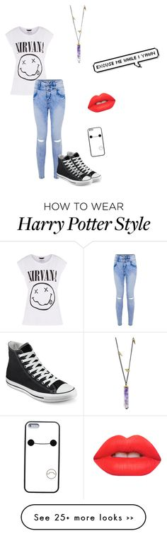 """""""Nirvana"""" by unicorns-in-cloud9 on Polyvore featuring Converse and Lime Crime"""