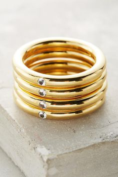 Elizabeth and James Caro Stacked Rings