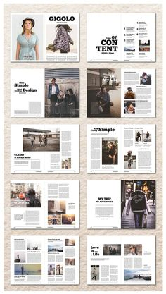 InDesign Magazine Template by MA-KING_ART on @creativemarket