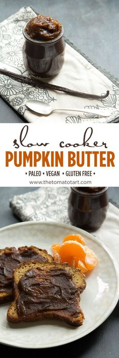 Paleo Slow Cooker Pumpkin Butter | The Tomato Tart.