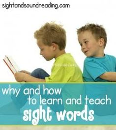 Why and How to teach the Sight Words. Explicit videos and worksheets to help teach reading! Great for preschool, kindergarten or special needs.