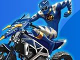 Power Ranger is trying to overcome the obstacles on his motorcycle. You use your dexterity skills to help him pass the 21 levels and win.