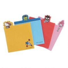 Hello Kitty and Friends Sports Die Cut Notepads 4 Pack Journal Paper, Overnight Shipping, Stationery Paper, My Melody, World Market, School Supplies, Office Supplies, Office Gifts, Die Cutting