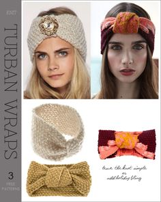 Turban Headbands    Quick and easy gifts to make - 3 free patterns