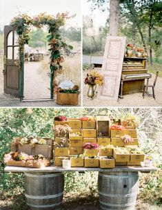 lovely outdoor rustic wedding