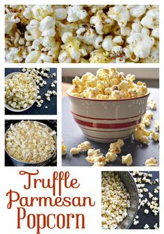Truffle Parmesan Popcorn - black truffle salt and freshly grated popcorn make a snack that's a little bit luxurious and completely addicting.  Great for movie marathons and Oscars watch parties!