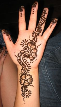 Simple Mehndi Designs For Hands  ... #ArabicMehndiDesigns #BridalMehndiDesigns