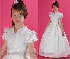 vestidos de primera comunion | Vestido corte campana muy lindo para comunion