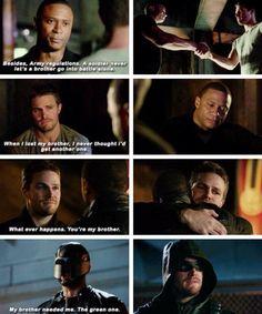 Arrow - Oliver & Diggle <3<3<3