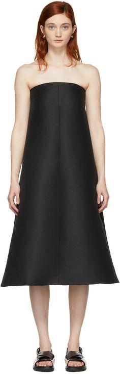 Totême - Black Strapless Sabadell Dress