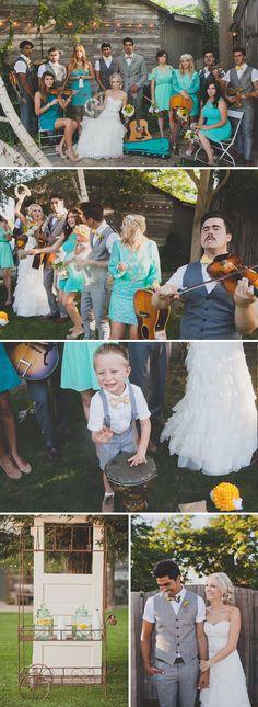 Ein vintage Hochzeit