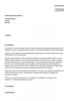 cover letter for a resume as a receptionist - Cover Letter To A Resume