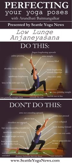 "Here's part 2 of our ""Do This Not That"" series - Low Lunge yoga pose. - Here's part 2 of our ""Do This Not That"" series – Low Lunge yoga pose. Ready to perfect this - Yoga Meditation, Yoga Bewegungen, Yoga Pilates, Sup Yoga, Yoga Moves, Yoga Flow, Reiki, Yoga Inspiration, Yoga Fitness"