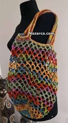 Crochet Market Bag, Crochet Tote, Crochet Handbags, Crochet Purses, Filet Crochet, Knit Crochet, Crotchet Bags, Knitted Bags, Knitting Projects