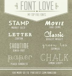 my 8 favorite free fonts #fonts #scrapbooking #freefonts