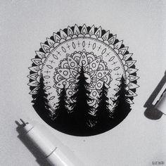 art, arte, artistic, artistico, black and white, blanco y negro, bosque, design…