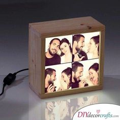 30 Geschenkideen zum Selber Machen zum Geburtstag – Tolle Bastelideen Lámpara de fotos – regalo para un amigo para cumpleaños Homemade Birthday Gifts, Creative Birthday Gifts, It's Your Birthday, Presents For Boyfriend, Birthday Gifts For Boyfriend, Boyfriend Gifts, Lampe Photo, Photo Lamp, 30 Gifts