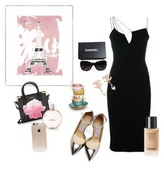 """""""Romance in Bloom"""" by zdifruscia on Polyvore featuring Jimmy Choo, Victoria Beckham, Calvin Klein, Chanel, Incase and Vintage Print Gallery"""
