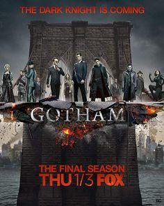 """Watch Gotham Season 5 Episode 12 : """"Legend of Dark Knight: The Beginning. Gotham Tv Series, Gotham Cast, Gotham Bruce, Jerome Gotham, Gotham Movie, Gotham Show, Riddler Gotham, Gotham Villains, Horror Films"""