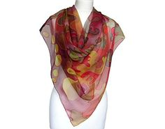 This hand painted chiffon scarf is elegant and will perfectly serve as evening gown accessory. Scarf is of brown colors and when standing closely, you will depict various forms, that will remind you of animals, plants, or waves. It is almost the same as looking at the clouds, everyone sees... more details available at https://perfect-gifts.bestselleroutlets.com/gifts-for-holidays/homemade/product-review-for-gift-for-wife-scarf-chiffon-scarf-holiday-gift-wife-mom-gift-holiday-