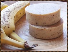 DIY Banana Soap Recipe -- softens skin and easy to make!