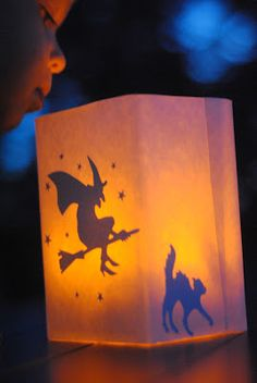 DIY Halloween Glowing Luminaries