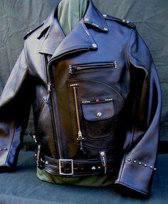 Buco J24 Black Horsehide Leather Motorcycle Jacket