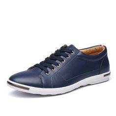 Men Pure Color Casual Lace Up British Style Oxford Shoes - NewChic Mobile.