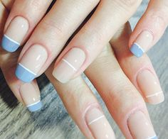 7 DIY Summer Manicures Although I'm usually wearing my go-to white, nude, or soft pink (love Chantilly Lace) nail polish for summer, I'm always looking for fresh manicure ideas. Pastel Nails, Acrylic Nails, Pastel Art, Pastel Blue, Soft Nails, Nail Art Designs, Nail Design, Pedicure Designs, Design Art