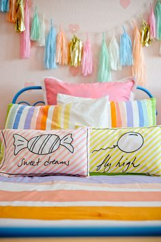 Whimsical Organic Pillows from @Greenbuds - love the sweet whimsy it adds to a kids room!