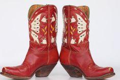 vintage cowboy boots circa 50s-60s
