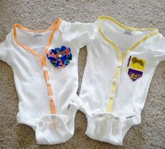 ShortSleeved SportThemed Onesie Cardigans by OutTheBoxCreations, $16.00
