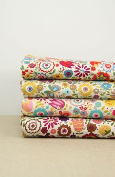 Fat Quarter Bundle Japanese Fabric Bundle Floral Fabric Bundle Bright Flower Butterfly Cotton Fabric Bundle- sets for 4. $19.40, via Etsy.