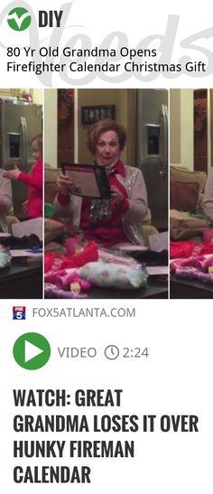 WATCH: Great Grandma Loses It Over Hunky Fireman Calendar | http://veeds.com/i/IICQ4wVuLruZx1ls/diy/