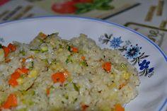 Arròs amb verduretes   Entre núvols de cotó
