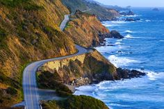Pacific Coast Highway (Highway 1) at southern end of Big Sur, California... This All-American road is literally right on the California coast, so it offers some pretty stunning scenery, plus there's tons of great stops along the way from Legget, across the Golden Gate bridge, through Big Sur, and down into LA and San Diego!