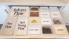 Mum's genius baking and dry goods storage will give you major drawer envy