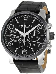 102365  NEW MONTBLANC TIMEWALKER CHRONOGRAPH MENS WATCH IN STOCK   - FREE Overnight Shipping | Lowest Price Guaranteed    - NO SALES TAX (Outside California)- WITH MANUFACTURER SERIAL NUMBERS- Black Dial