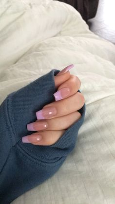 Acrylic Nails Coffin Short, Simple Acrylic Nails, Pink Acrylic Nails, Acrylic Nail Designs, French Tip Acrylic Nails, Coffin Nails, Pink Cheetah Nails, Long French Tip Nails, Pink Tip Nails
