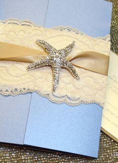 View Wedding Invitations, 2014 starfish beach wedding invitations www.loveitsomuch.com