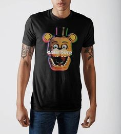 5, Black God Sweet Boys Kids Five Nights at Freddys Cotton Long Sleeve Shirts