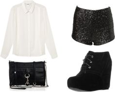 new years outfit (with some black tights) need to find these shorts!!!
