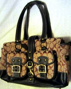 Authentic Coach LARGER SATCHEL in khaki and by WARDROBEcloset