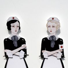 Articulated Paper Dolls...cool AND creepy :)