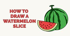 Learn to draw a juicy watermelon. This step-by-step tutorial makes it easy. Kids and beginners alike can now draw a great looking watermelon and slice. Learn To Draw Flowers, Learn To Draw Anime, How To Draw Anime Eyes, Flower Drawing Tutorials, Drawing Tutorials For Kids, Easy Food Art, Fruits Drawing, Watermelon Slices, Nature Drawing