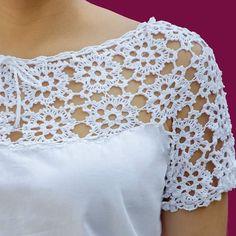 Crochet Skirt Pattern, Crochet Fabric, Crochet Shirt, Crochet Motif, Crochet Designs, Crochet Doilies, Knit Crochet, Crochet Patterns, Crochet Dreamcatcher
