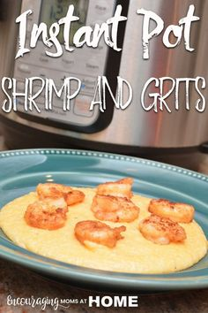 Instant Pot Shrimp and Grits -- Make delicious low country shrimp and grits - cheese grits in the instant pot or pressure cooker! - recipe with images